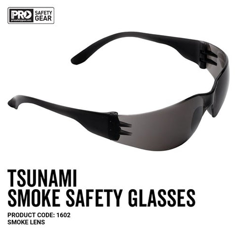 Pro Choice Tsunami Safety Glasses Smoke 1602