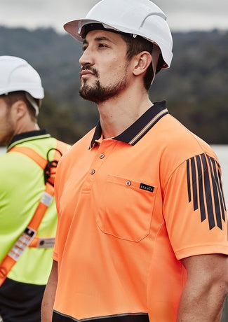 Syzmik Mens Hi-Vis Flux Short Sleeve Polo ZH315