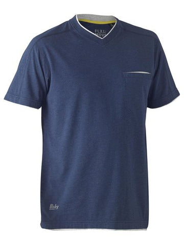 BK1933 BISLEY FLEX & MOVE COTTON RICH V NECK SHORT SLEEVE TEE - ON THE GO SAFETY & WORKWEAR