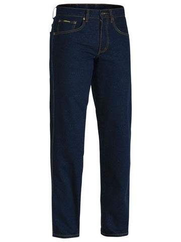 BP6712 BISLEY ROUGH RIDER DENIM STRETCH JEANS - ON THE GO SAFETY & WORKWEAR