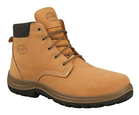 OLIVER Lace Up Steel Toe Work Boot - WHEAT 34632