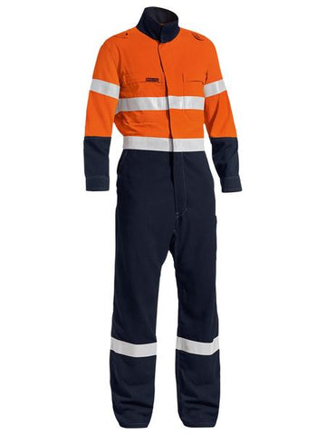 BC8177T BISLEY TENCATE TECASAFE PLUS TAPED TWO TONE HI VIS LIGHTWEIGHT COVERALL - ON THE GO SAFETY & WORKWEAR