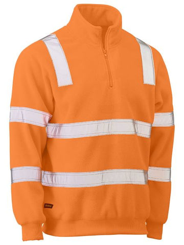 BISLEY Taped Hi Vis Rail Polar Fleece Jumper BK6816T