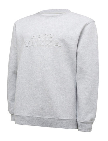 HARD YAKKA CREW NECK JUMPER WITH SILICONE PRINT Y11690