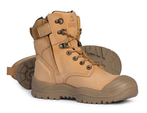 MONGREL HIGH LEG ZIPSIDER BOOT W/ SCUFF CAP WHEAT 561050