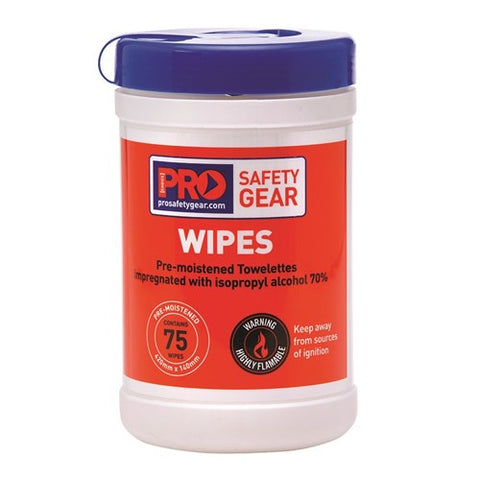 PRO CHOICE Isopropyl Wipes 75 Wipe Cannister CW75