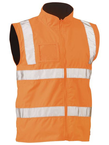 BISLEY Taped Hi Vis Rail Wet Weather Vest BV0364T