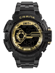 UNIT MENS WATCH CRANK BLACK GOLD 189129001 - ON THE GO SAFETY & WORKWEAR