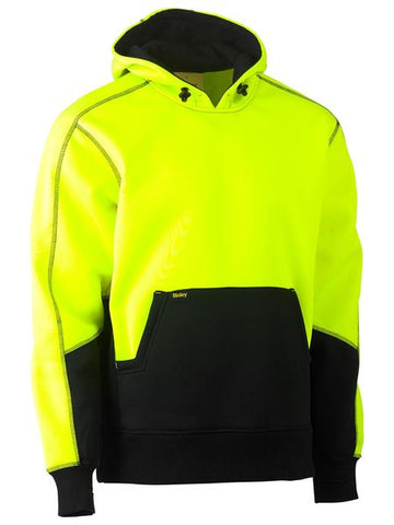 BK6619T BISLEY TAPED HI VIS TWO TONE FLEECE PULLOVER HOODIE - ON THE GO SAFETY & WORKWEAR