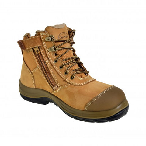 34662 OLIVER BOOT - LACE-UP ZIPSIDE ANKLE BOOT WHEAT - ON THE GO SAFETY & WORKWEAR