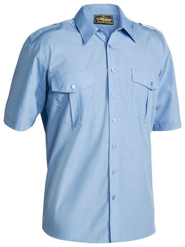B71526 BISLEY EPAULETTE SHIRT - SHORT SLEEVE - ON THE GO SAFETY & WORKWEAR