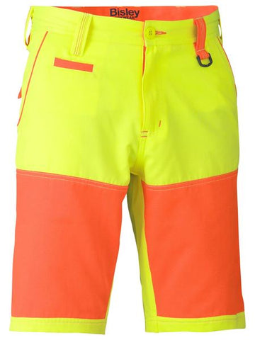 BISLEY Double Hi Vis Short BSH1411
