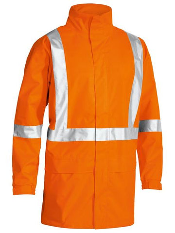BJ6968T BISLEY X TAPED HI VIS RAIN SHELL JACKET - ON THE GO SAFETY & WORKWEAR
