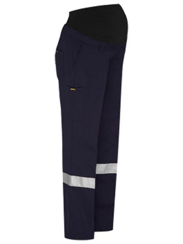 BISLEY Ladies 3M Taped Maternity Drill Work Pant BPLM6009T