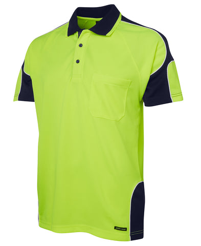 6AP4S JB'S HI-VIS SHORT SLEEVE POLO SHIRT - ON THE GO SAFETY & WORKWEAR