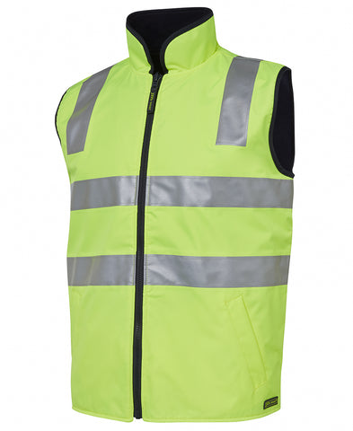6D4RV JB'S HI VIS (DAY AND NIGHT) REVERSIBLE VEST - ON THE GO SAFETY & WORKWEAR