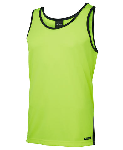6HCS4 JB'S HI VIS 4602.1 CONTRAST SINGLET - ON THE GO SAFETY & WORKWEAR
