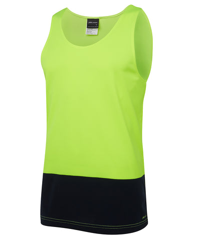 6HTS JB'S HI-VIS TRADITIONAL SINGLET - ON THE GO SAFETY & WORKWEAR