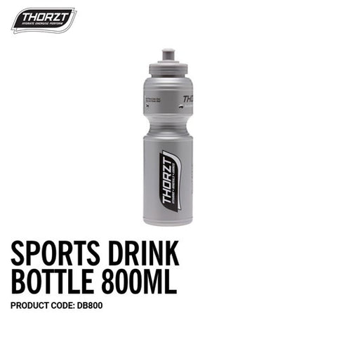 THORZT Sports Drink Bottle 800mL - Silver DB800