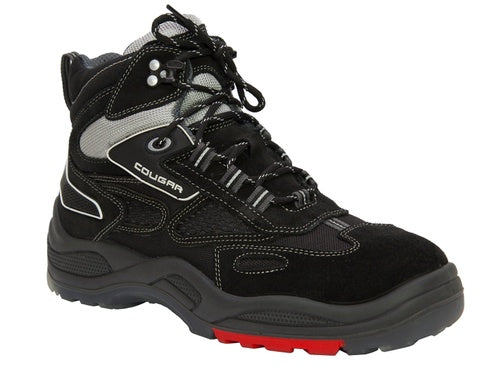 S307 COUGAR STEEL CAP SHOE - BLACK