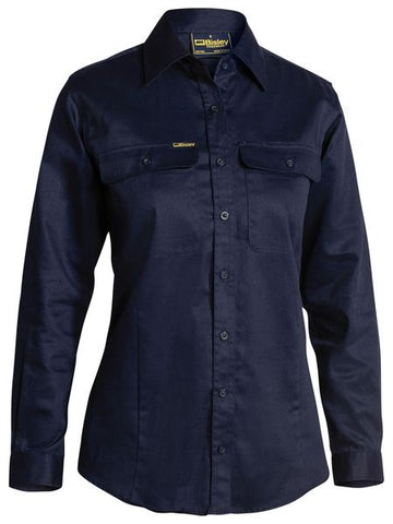 BISLEY Ladies Drill Shirt - Long Sleeve BL6339