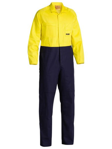 BC6357 BISLEY 2 TONE HI VIS COVERALLS REGULAR WEIGHT - ON THE GO SAFETY & WORKWEAR