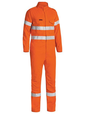 BC8085T BISLEY TENCATE TECASAFE PLUS 700 TAPED HI VIS ENGINEERED FR VENTED COVERALL - ON THE GO SAFETY & WORKWEAR