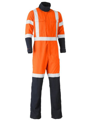 BC8393XT BISLEY TENCATE TECASAFE PLUS 700 X TAPED HI VIS TTMC-W FR VENTED COVERALL - ON THE GO SAFETY & WORKWEAR