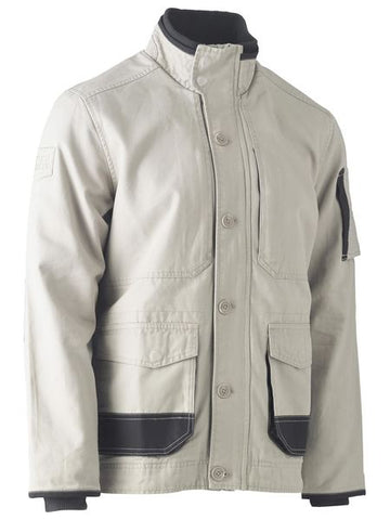 BJ6500 BISLEY FLEX & MOVE CANVAS JACKET - ON THE GO SAFETY & WORKWEAR