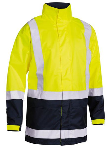 BJ6966T BISLEY TWO TONE TAPED HI VIS RAIN SHELL JACKET - ON THE GO SAFETY & WORKWEAR