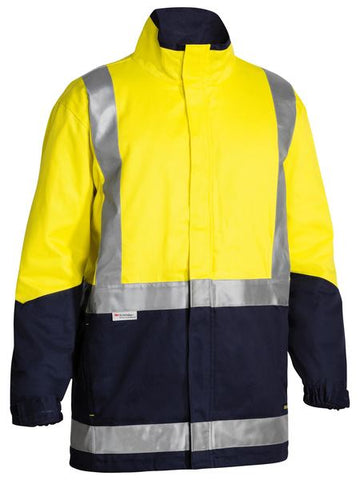 BJ6970T BISLEY 33M TAPED HI VIS 3 IN 1 DRILL JACKET - ON THE GO SAFETY & WORKWEAR