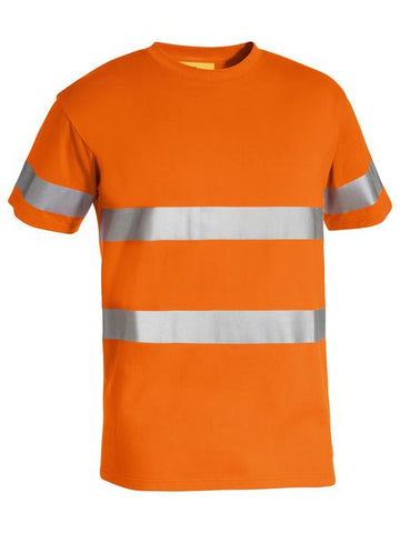 BK1017T BISLEY 3M TAPED HI VIS COTTON T-SHIRT - ON THE GO SAFETY & WORKWEAR
