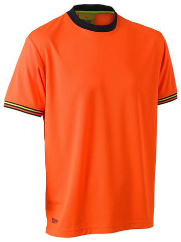 BK1220 BISLEY HI VIS POLYESTER MESH SHORT SLEEVE T-SHIRT - ON THE GO SAFETY & WORKWEAR