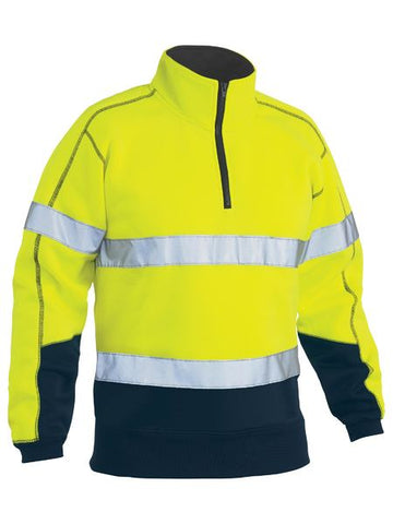 BK6989T BISLEY TAPED HI VIS FLEECE PULLOVER - ON THE GO SAFETY & WORKWEAR