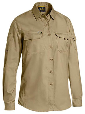 BL6414 BISLEY LADIES X AIRFLOW RIPSTOP SHIRT - ON THE GO SAFETY & WORKWEAR
