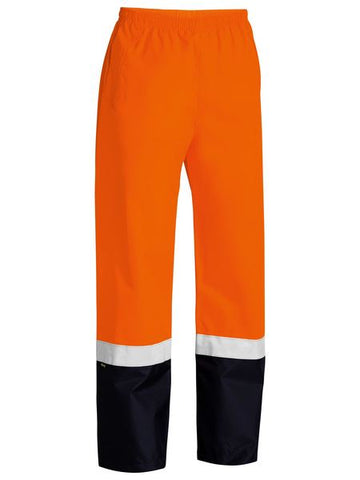 BP6965T BISLEY TAPED TWO TONE HI VIS SHELL RAIN PANT - ON THE GO SAFETY & WORKWEAR