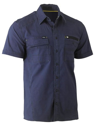 BISLEY Flex & Move Utility Work Shirt - Short Sleeve BS1144