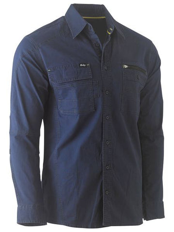 BISLEY Flex & Move Utility Work Shirt - Long Sleeve BS6144