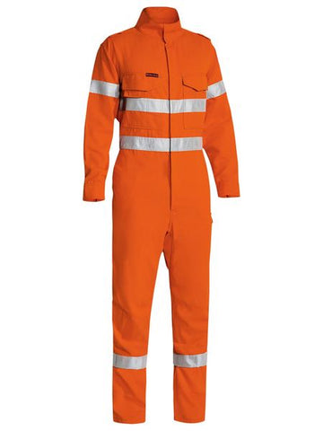 BC8185 BISLEY TENCATE TECASAFE PLUS 580 TAPED HI VIS LIGHTWEIGHT FR NON VENTED ENGINEERED COVERALL - ON THE GO SAFETY & WORKWEAR