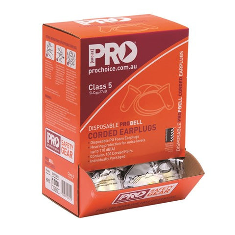 Pro Choice Pro-Bell Pu Corded Earplugs Box 100 EPYC