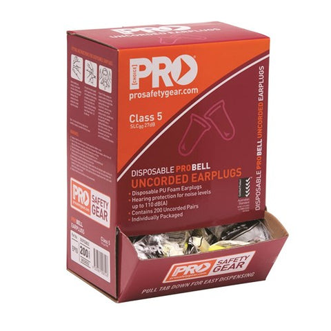 Pro Choice Pro-Bell Pu Uncorded Earplugs Box 200 EPYU