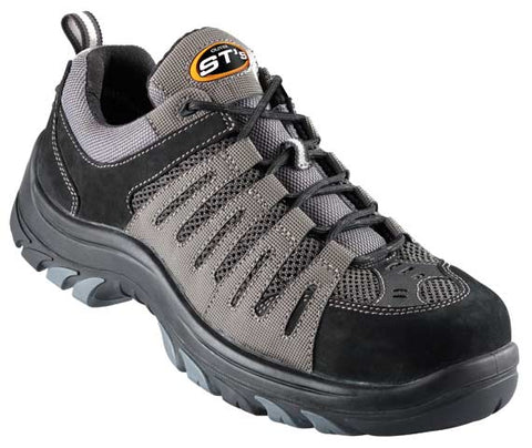 44515 OLIVER LACE UP SHOE - GREY/BLACK - ON THE GO SAFETY & WORKWEAR