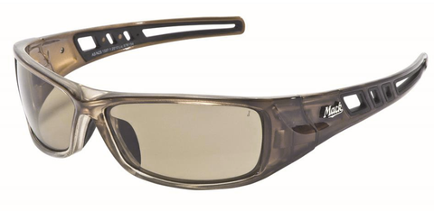 MACK Longhaul Safety Eyewear - Brown Tint Polarized  ME504