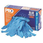 Pro Choice Blue Powder Free Gloves Box Of 100 MDNPF