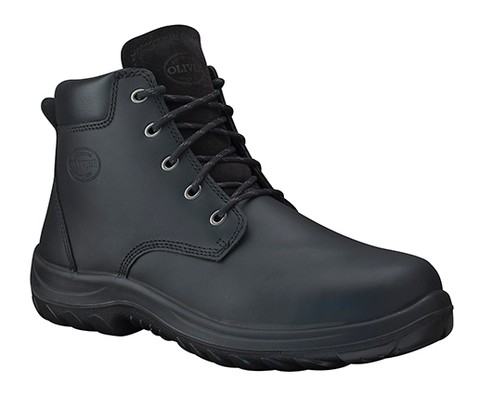 34634P OLIVER LACE UP ANKLE BOOT - BLACK - ON THE GO SAFETY & WORKWEAR