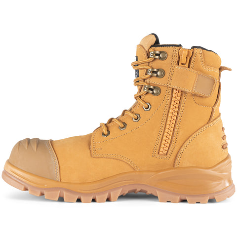 Rottie Work Boot Zipside Bump Cap High Cut RWB8