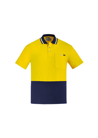 SYZMIK MENS HI VIS COTTON S/S POLO ZH435 - ON THE GO SAFETY & WORKWEAR