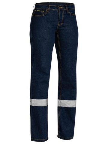 BISLEY Ladies Taped Stretch Jeans BPL6712T