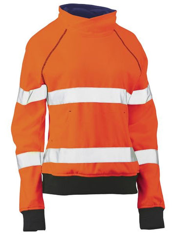 BISLEY Ladies Taped Hi Vis Fleece Jumper BKL6818T