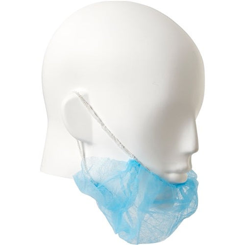 Pro Choice Disposable Beard Cover Twin Loop Blue - 100 PACK DBCT18B